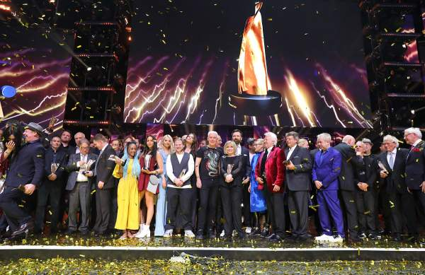 Schlussbild beim PRG Live Entertainment Award (LEA) 2018 in der Festhalle in Frankfurt