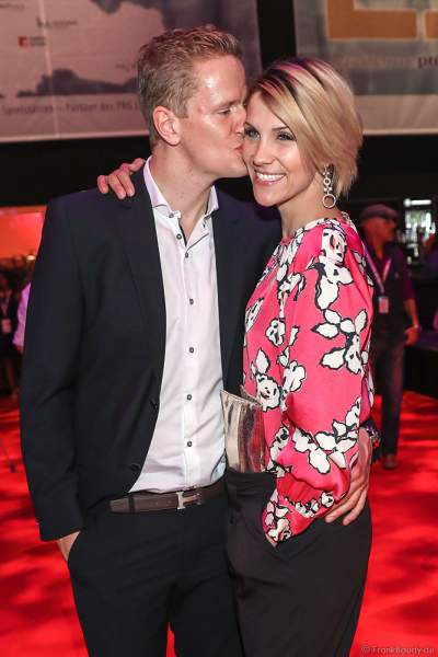 Anna-Maria Zimmermann und Ehemann Christian Tegeler auf der After-Show-Party beim PRG Live Entertainment Award (LEA) 2018 in der Festhalle in Frankfurt