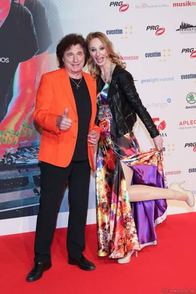 Olaf Malolepski, ex Flippers Sänger mit Tochter Pia Malolepski beim PRG Live Entertainment Award (LEA) 2018 in der Festhalle in Frankfurt