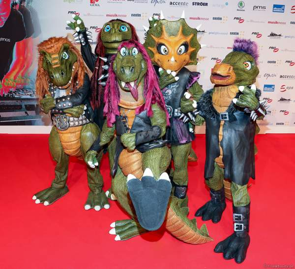Die finnische Heavy-Metal Hevisaurus beim PRG Live Entertainment Award (LEA) 2018 in der Festhalle in Frankfurt