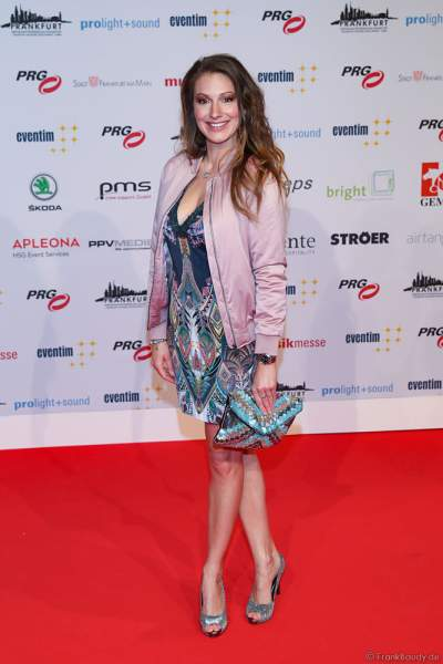 Mara Bergmann beim PRG Live Entertainment Award (LEA) 2018 in der Festhalle in Frankfurt