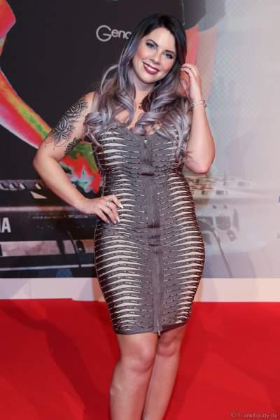 """Jennifer """"Jenny"""" Frankhauser, Halbschwester von Daniela Katzenberger beim PRG Live Entertainment Award (LEA) 2018 in der Festhalle in Frankfurt"""