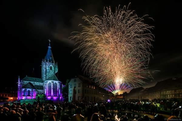 Feuerwerk (Feu d'artifice) beim Pfingstfest (Les Fêtes de Pentecôte) in Weißenburg (Wissembourg) 2018
