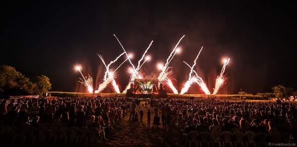Open Air Festival Vents d'Est (Ostwindfestival) 2018 in Furdenheim mit Feuerwerk
