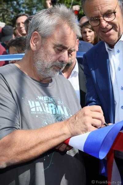 Regisseur Luc Besson bei der Eröffnung der Eurosat – CanCan Coaster & Eurosat Coastiality Achterbahn im Europa-Park am 12. September 2018