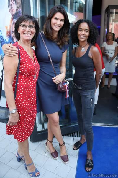 Marianne Mack, Miriam Mack und Virginie Besson-Silla bei der Eröffnung der Eurosat – CanCan Coaster & Eurosat Coastiality Achterbahn im Europa-Park am 12. September 2018