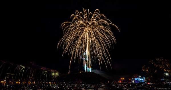 Feuerwerk in den Weinbergen beim Wurstmarkt 2018 in Bad Dürkheim