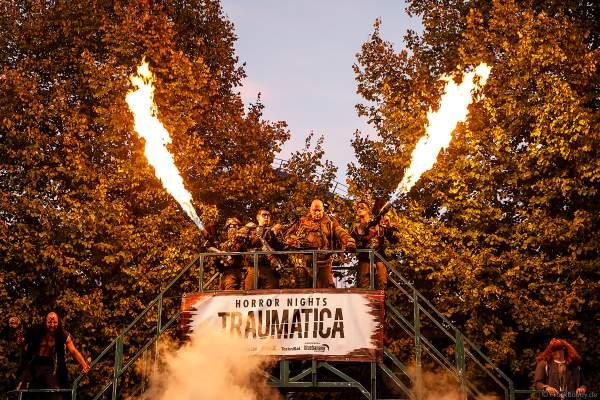 Der Eingang zu den Horror Nights – Traumatica 2018 im Europa-Park