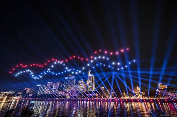 Die Mainova AG versorgt die gesamte Rhein-Main-Region mit Energie - Drohnen- und Lichtshow STERNENBILDER – EINE SYMPHONIE FÜR DIE FRANKFURTER ALTSTADT 2018