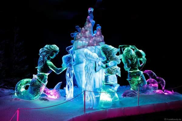 Eisskulpturen Ausstellung RULANTICA aus EIS – Snorris funkelnde Wasserwelt im Europa-Park zur Wintersaison 2018/2019