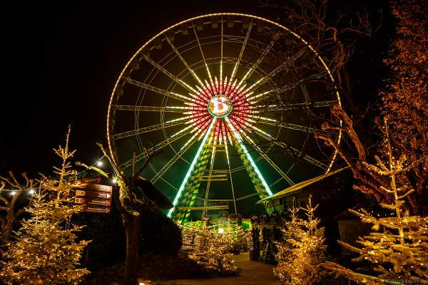 """Das große Riesenrad """"Bellevue"""" im Portugiesischen Themenbereich im Europa-Park zur Wintersaison 2018/2019"""