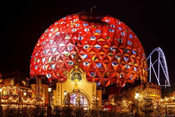 3D-Videomapping-Show MIRACULEUX auf der Kugel des Eurosat – CanCan Coaster im Europa-Park zur Wintersaison 2018/2019
