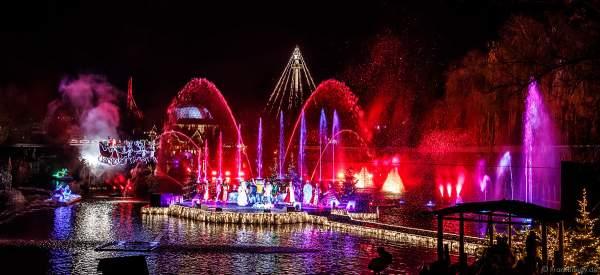 Weihnachtliche Wassershow ED UND EDDAS WINTERZAUBER auf dem See im Europa-Park 2018