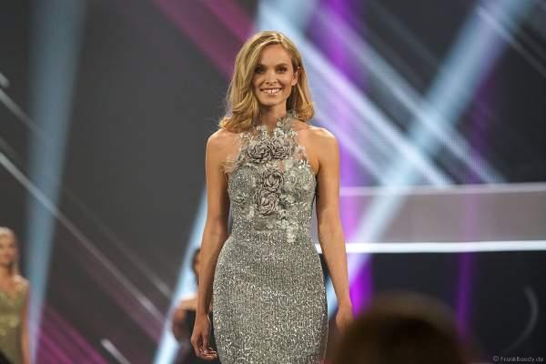 Miss Germany 2019 Nadine Berneis bei der Verstellung und beim Interview in der Europa-Park Arena am 23.02.2019