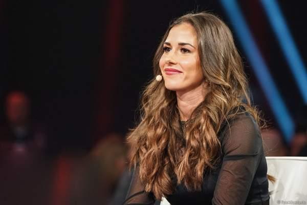 Sarah Lombardi in der Jury beim Finale der Miss Germany Wahl 2019 in der Europa-Park Arena am 23.02.2019