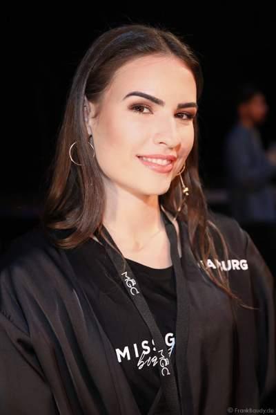 Miss Hamburg 2018/19, Pricilla Klein Backstage am Nachmittag bei den Vorbereitungen für das Miss Germany 2019 Finale in der Europa-Park Arena am 23.02.2019