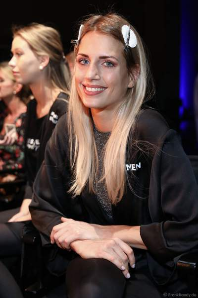 Miss Bremen 2018/19, Marianne Kock Backstage am Nachmittag bei den Vorbereitungen für das Miss Germany 2019 Finale in der Europa-Park Arena am 23.02.2019