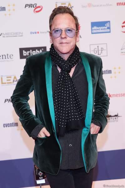 Schauspieler und Musiker Kiefer Sutherland beim PRG Live Entertainment Award (LEA) 2019 in der Festhalle in Frankfurt