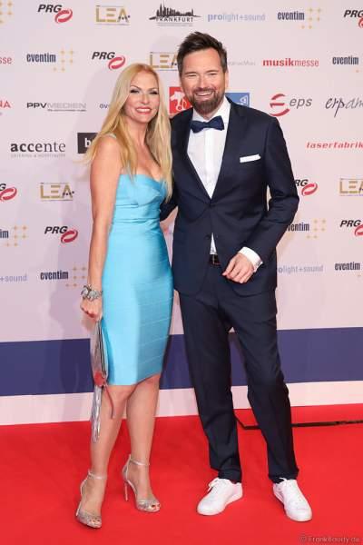 Sonya Kraus und Ingo Nommsen beim PRG Live Entertainment Award (LEA) 2019 in der Festhalle in Frankfurt