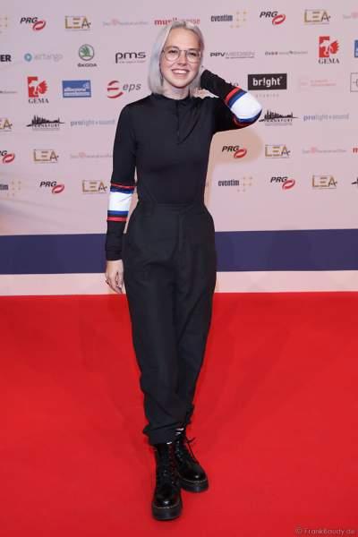 Schweizer Pop- und Soulsängerin Stefanie Heinzmann beim PRG Live Entertainment Award (LEA) 2019 in der Festhalle in Frankfurt