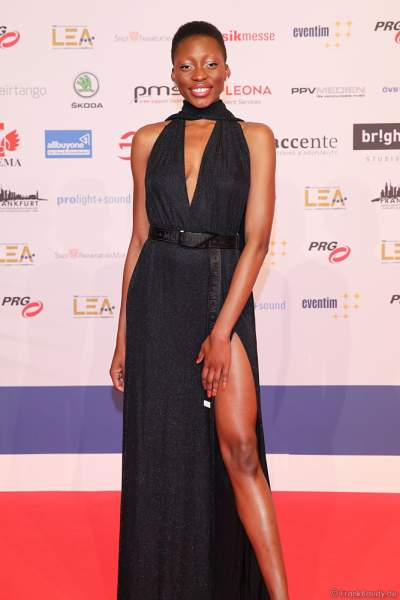 Deutsches Model Toni Dreher-Adenuga beim PRG Live Entertainment Award (LEA) 2019 in der Festhalle in Frankfurt