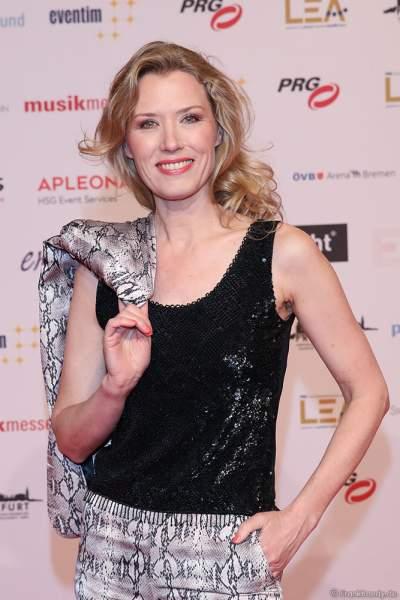 Franziska Reichenbacher auf dem roten Teppich beim PRG Live Entertainment Award (LEA) 2019 in der Festhalle in Frankfurt