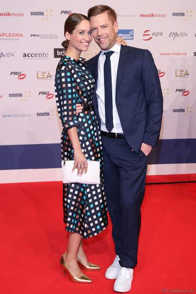 Tom Gaebel + Saskia Runge beim PRG Live Entertainment Award (LEA) 2019 in der Festhalle in Frankfurt