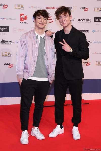 Die Lochis: Heiko und Roman Lochmann beim PRG Live Entertainment Award (LEA) 2019 in der Festhalle in Frankfurt