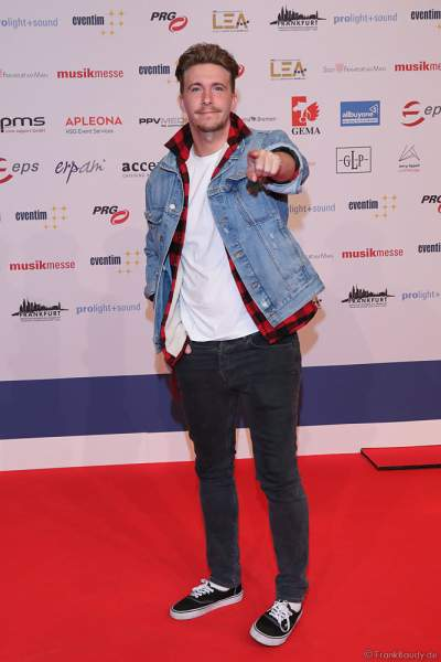 Musiker David Friedrich beim PRG Live Entertainment Award (LEA) 2019 in der Festhalle in Frankfurt