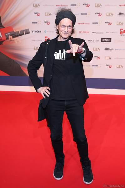 Sänger und Songwriter Wolf Maahn beim PRG Live Entertainment Award (LEA) 2019 in der Festhalle in Frankfurt
