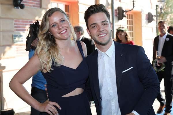 Luca Hänni mit Freundin Michele Affolter bei der Eröffnungsfeier des neuen Themenhotel Kronasar im Europa-Park in Rust am 24.05.2019