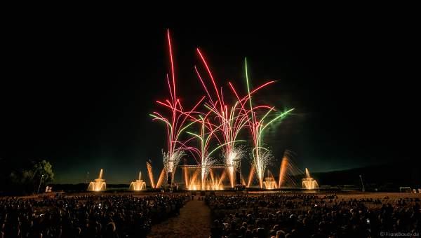EURO-ELECTRO-SHOW beim Festival Vents d'Est 2019 mit einem Feuerwerk von Dietmar Giedemann