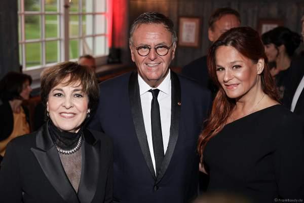 Paola Felix, Roland Mack und Andrea Berg beim 70. Geburtstag des Europa-Park-Gründers Roland Mack am 12.10.2019 in Rust