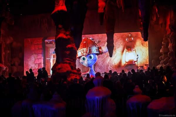 Das Maskottchen Snorri beim Preview-Opening Rulantica anlässlich des 70. Geburtstages von Europa-Park-Gründer Roland Mack am 12.10.2019 in Rust