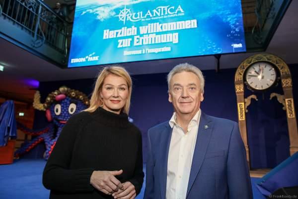 Franziska van Almsick und Jürgen Mack bei der Eröffnung der Wasserwelt RULANTICA am 28. November 2019 im Europa-Park