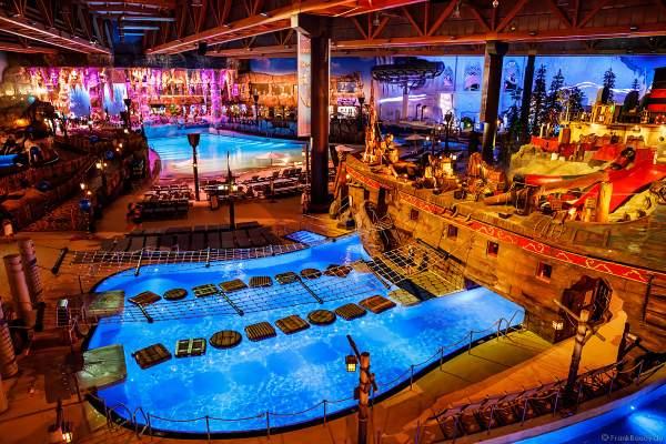 Abenteuerpool in der Wasserwelt RULANTICA des Europa-Park