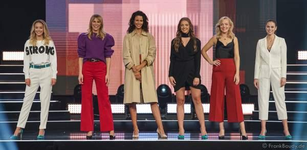 Die Top 6 Teilnehmerinnen der Miss Germany 2020 Wahl am 15.02.2020 in der Europa-Park Arena Rust