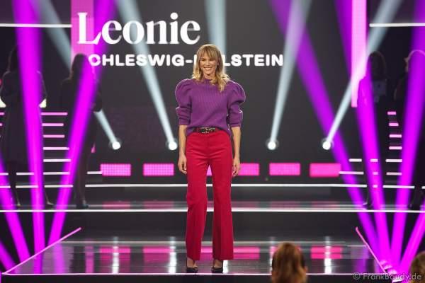 Miss Germany 2020 - Leonie Charlotte von Hase (Miss Schleswig-Holstein) auf dem Laufsteg beim Miss Germany 2020 Finale in der Europa-Park Arena am 15.02.2020