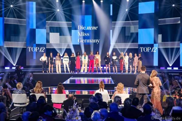 Die Top 12 Teilnehmerinnen der Miss Germany 2020 Wahl am 15.02.2020 in der Europa-Park Arena Rust