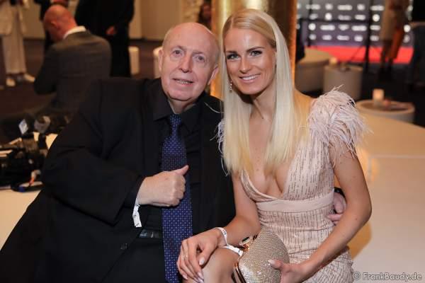 Reiner Calli Calmund und Anne Kathrin Kosch bei der Miss Germany 2020 Wahl am 15.02.2020 in der Europa-Park Arena Rust