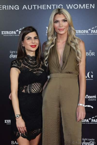 Rosa Bay und Giuliana Farfalla bei der Miss Germany 2020 Wahl am 15.02.2020 in der Europa-Park Arena Rust