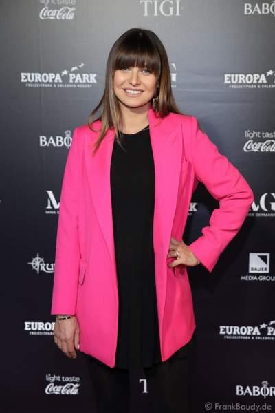 Jurymitglied: Anna Lewandowska bei der Miss Germany 2020 Wahl am 15.02.2020 in der Europa-Park Arena Rust