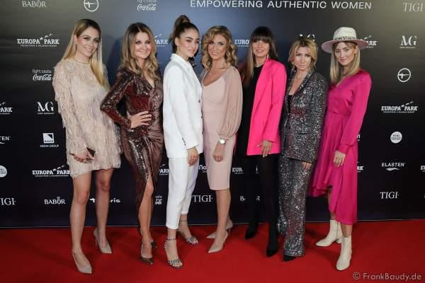 Gruppenfoto Jury und Gäste der Miss Germany 2020 Wahl am 15.02.2020 in der Europa-Park Arena Rust