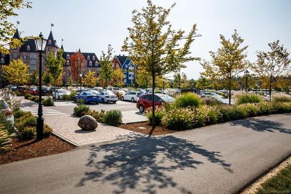"""Die bahnbrechende Attraktion von MackNeXT und VR Coaster entstand außerhalb des Europa-Parks, rechts neben dem 4-Sterne Superior Hotel """"Krønasår"""" und gegenüber der Wasserwelt Rulantica"""