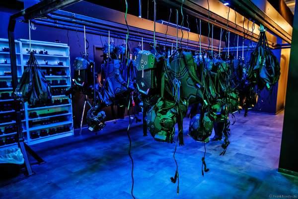 Der Lagerraum für die hochtechnisierte Ausrüstung für das VR-Erlebnis YULLBE im Europa-Park