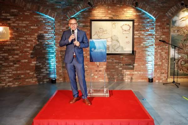 Bürgermeister Kai-Achim Klare bei der Einweihung des Ruhe- und Saunabereich HYGGEDAL in der Wasserwelt Rulantica am 15. Oktober 2020 im Europa-Park