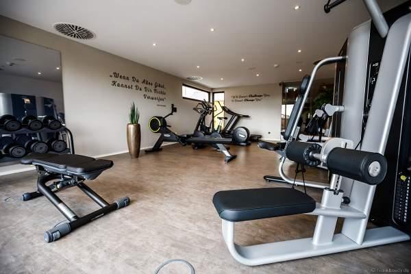 """Der Trainingsraum im neuen Fitness- und Saunabereich """"Krønasår"""" des gleichnamigen Hotels im Europa-Park"""