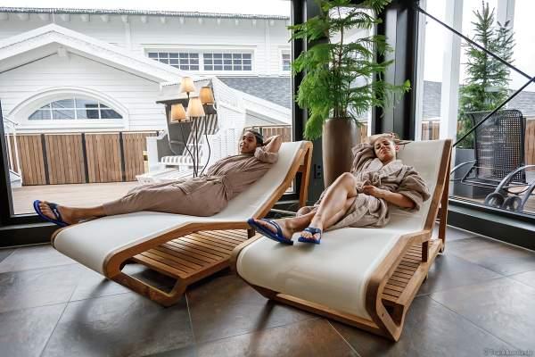 """Ruhebereich im neuen Fitness- und Saunabereich """"Krønasår"""" des gleichnamigen Hotels im Europa-Park"""