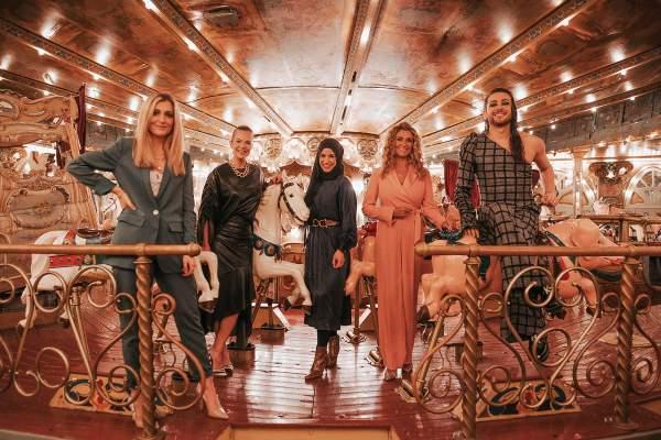 Die Miss Germany 2021 Jury: Karo Kauer, Lara Gonschorowski, Zeina Nassar, Dagmar Wöhrl und Riccardo Simonetti