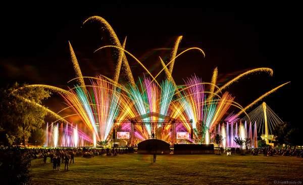 SYMPHONIE DES ARTS mit Feuerwerk und Wassershow beim Sommerfestival in Straßburg am 3. Juli 2021